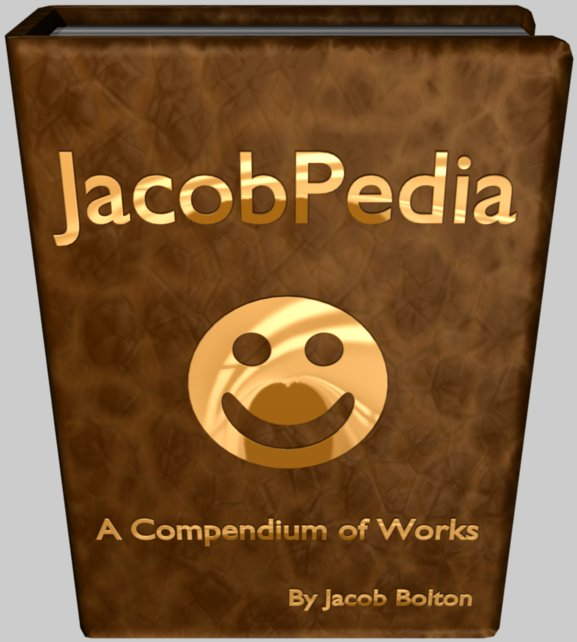 JacobPedia: A Compendium of Works By Jacob Bolton. Click to enter.